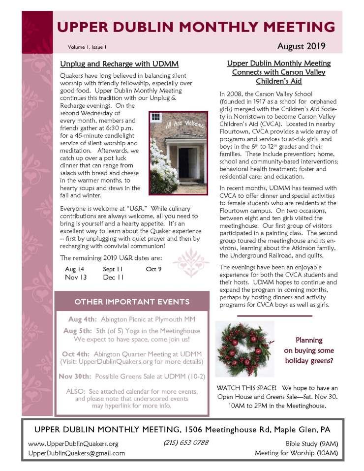 08-2019 - UDMM Newsletter