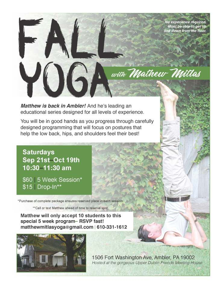 Yoga in the Meetinghouse - Fall Series